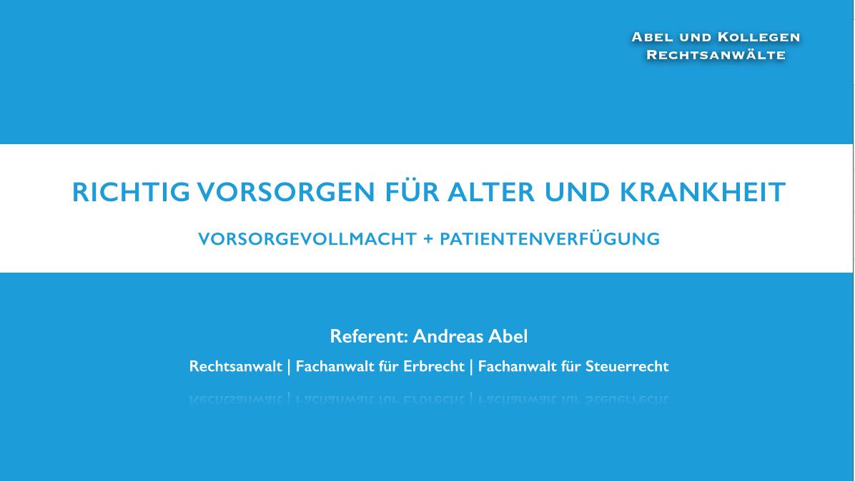 """Screenshot """"Vorsorge für Alter und Krankheit"""""""